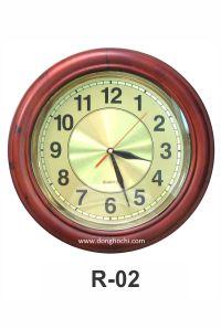 Đồng hồ treo tường gỗ cao cấp, tô điểm tổ ấm Việt  R-02GP