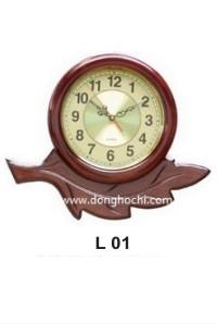 Đồng hồ treo tường gỗ cao cấp, tô điểm tổ ấm Việt  L01%20-%20GP