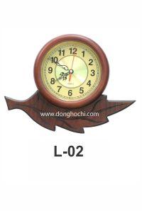 Đồng hồ treo tường gỗ cao cấp, tô điểm tổ ấm Việt  L02GP