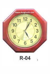 Đồng hồ treo tường gỗ cao cấp, tô điểm tổ ấm Việt  R04-GP