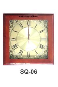 Đồng hồ treo tường gỗ cao cấp, tô điểm tổ ấm Việt  SQ06-GP