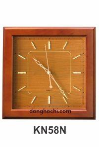 Đồng hồ treo tường gỗ cao cấp, tô điểm tổ ấm Việt  Kn%2058n-gp