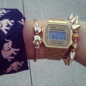 Bộ sưu tập đồng hồ casio điện tử mạ vàng (Phiên bản GOLD)