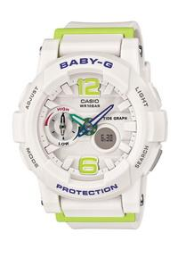 bga-180-7b2 Baby-G trắng xanh